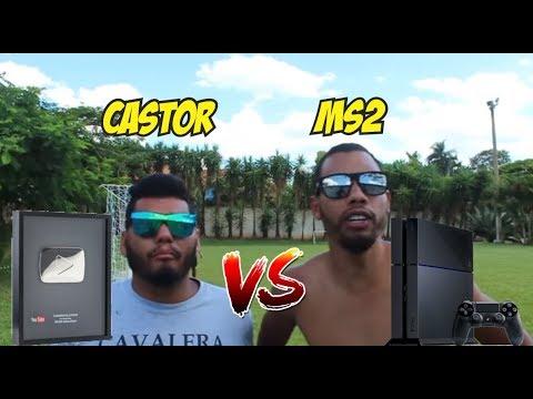 CASTOR vs MS2 ( Valendo Placa do PDP vs PS4 ) Desafios de Futebol
