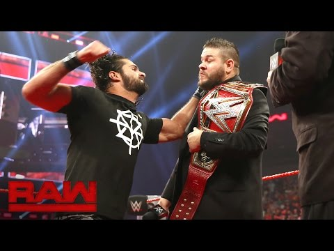 Seth Rollins interrupts Kevin Owens\' WWE Universal Championship Coronation: Raw, Sept. 5, 2016