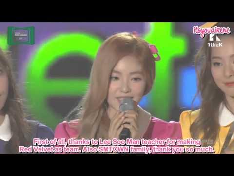 [ENGSUB] 151107 Red Velvet - Best Dance Female Artists @ 2015 MelOn Music Awards
