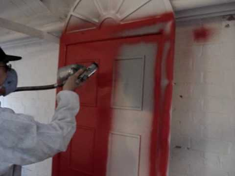 Spray paint doors youtube for How to spray paint doors