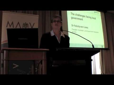 "Felicity-ann Lewis ""The challenges facing local government..."" 2014 FOLG"