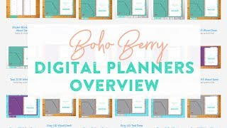 Boho Berry Digital Planner Overview - Which one is right for you?