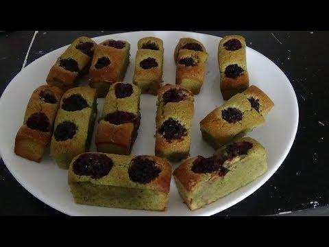Financiers thé Matcha et Mûres