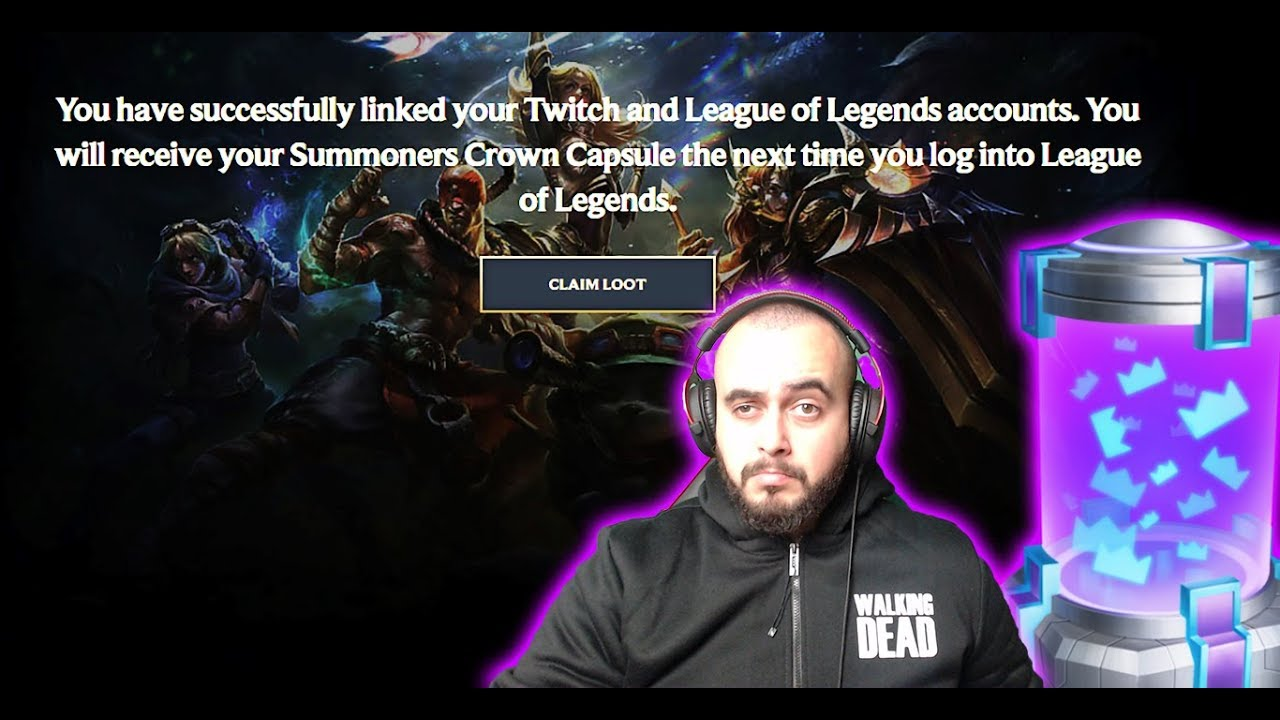 Summoners Crown Capsule from Twitch prime | Rerolling Spooky loots