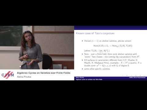 Alena Pirutka: Algebraic cycles on varieties over finite fields