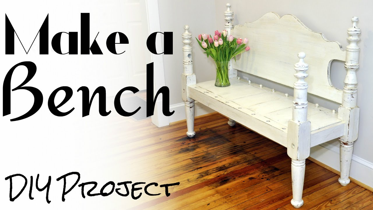 Make a Bench from a Bed - DIY Project - YouTube