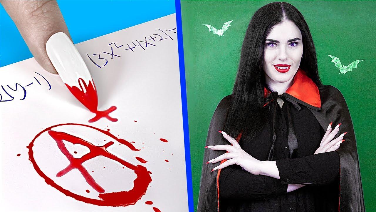 Download E se il Tuo Professore Fosse un Vampiro?/ 8 DIY Materiali Scolastici del College in Stile Vampiro