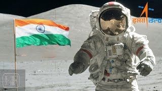 Indian Tricolour on moon