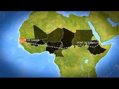 Trans African Railway from Dakar to Djibouti
