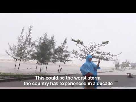 Typhoon Doksuri hits Vietnam