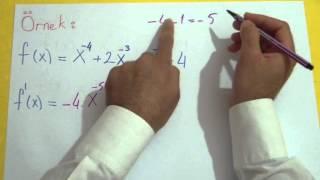 Türev 1 (Türev Alma) Şenol Hoca Matematik
