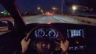2019 Хонда Акорд 2.0 Т Спорт 6-ступінчаста механічна - ПОВ нічної їзди (бінауральні аудіо)