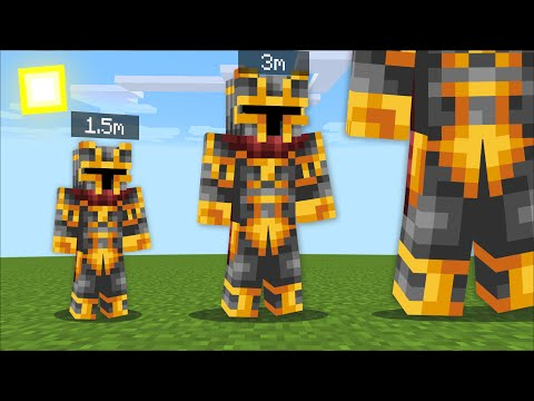 Minecraft EVERY MINUTE WE GET BIGGER TILL WE DIE MOD / TITANS AND GIANTS ! Minecraft Mods
