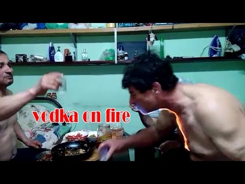 Who wants to drink vodka on fire?OMG