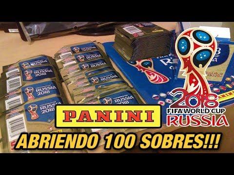 ABRIENDO 100 SOBRES DEL MUNDIAL 2018!!! - PANINI FIFA World Cup Rusia 2018