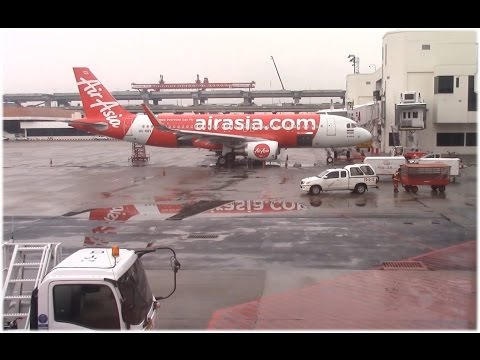 Air Asia A320-200 Bangkok to Chiang Rai [Full Flight]