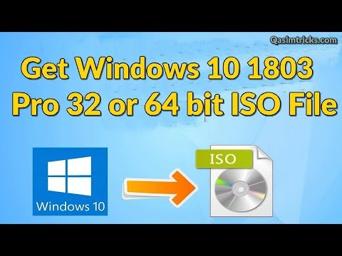 Original Windows 10 1803 ISO free Download from MIcrosoft - YouTube