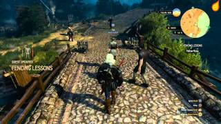 The Witcher 3: Fencing Lessons - Quest Walkthrough(A video guide showing how to complete the quest, Fencing Lessons on The Witcher 3: Wild Hunt., 2015-05-20T23:54:31.000Z)