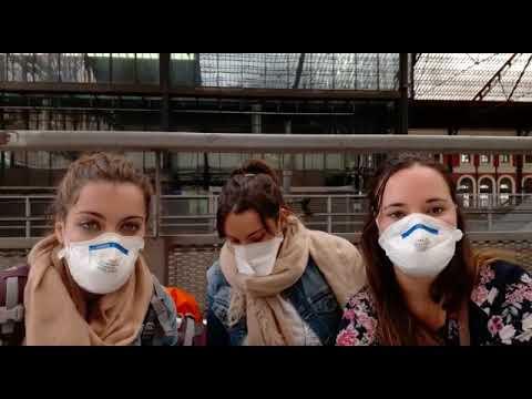 Llegan a Madrid las tres burgalesas atrapadas en Bangkok