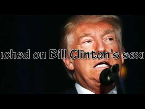 Dismissing risks, Trump goes all in on Bill Clinton's past