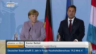 Staatsbesuch in Luxemburg: Pressekonferenz mit Angela Merkel und Xavier Bettel am 12.01.2017