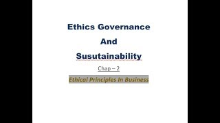 CS Professionals EGS for June 2019 Chap-2 Ethical Principles In Business