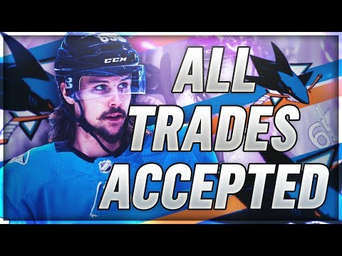 ACCEPTING ALL TRADES for 2 YEARS with the SAN JOSE SHARKS | NHL 19 Franchise Mode Challenge