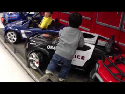 Kid Test Drives Toy Cars