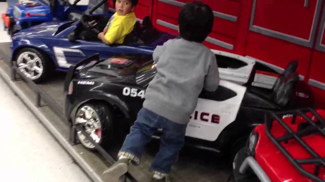 Big Boy Toys Car Show : Kid test drives toy cars youtube