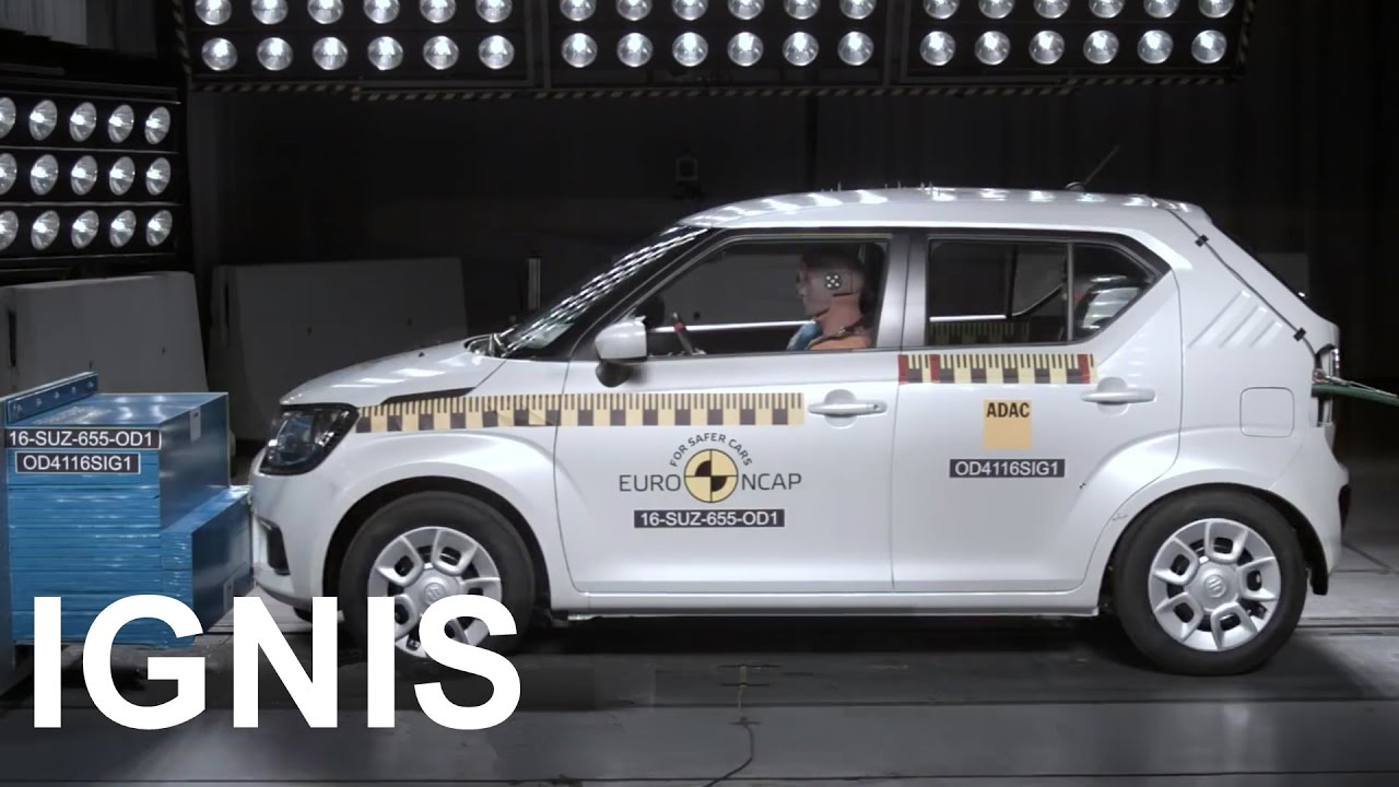 2016 suzuki ignis crash test youtube. Black Bedroom Furniture Sets. Home Design Ideas