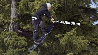 How to do a Crossrocket Grab with Austin Smith   TransWorld SNOWboarding Grab Directory