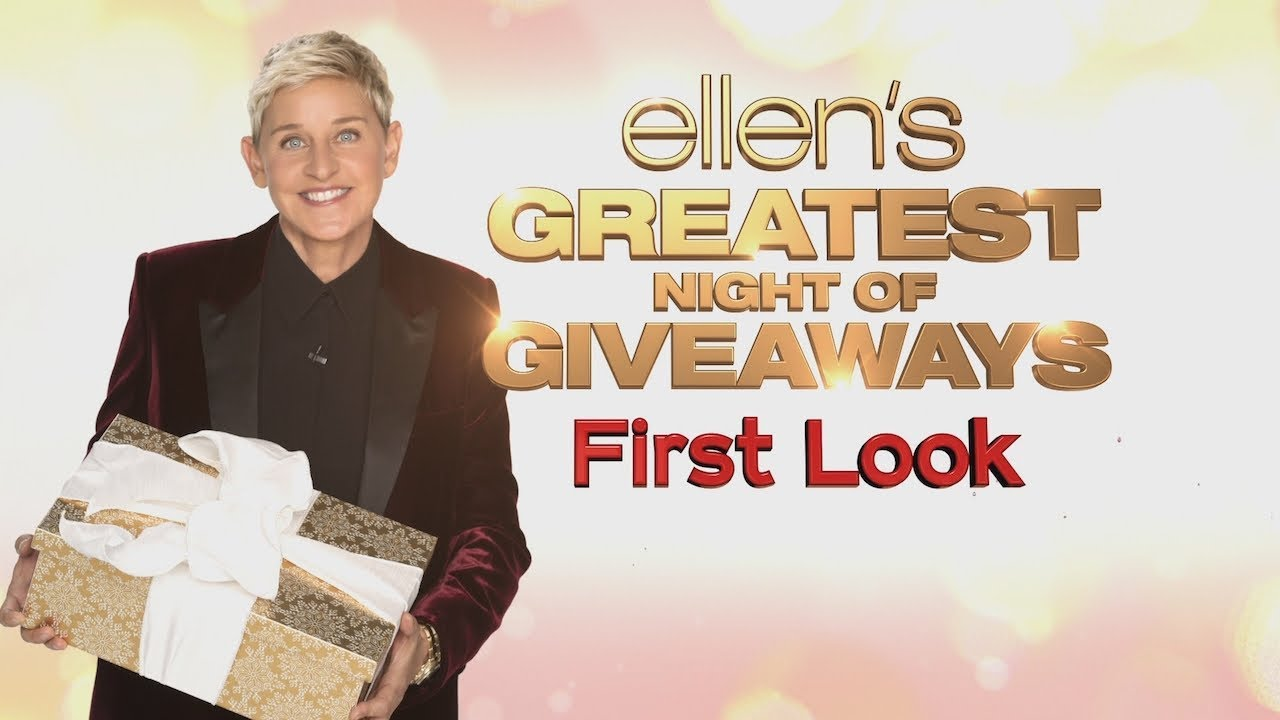 Ellens Christmas Giveaway For 2020 First Look: 'Ellen's Greatest Night of Giveaways'   YouTube