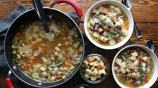 How to Make Leftover Christmas Ham and Bean Soup | The Inspired Home