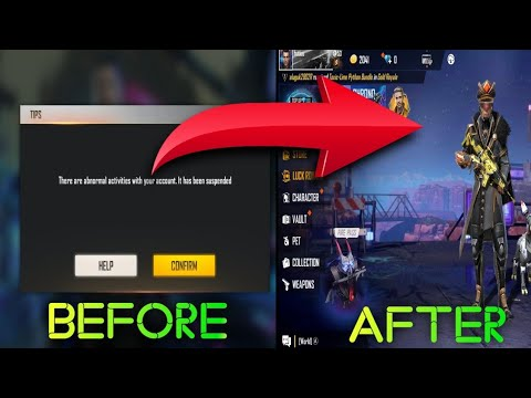 Unban Free Fire Suspended Id And Facebook Account Without Root 100 Working Youtube