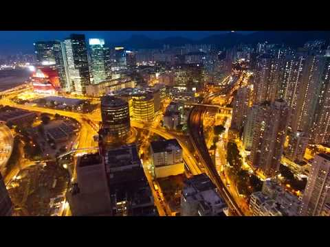 ** No Copyright Video ** City By Night (Drone View) [Royalty Free Video]