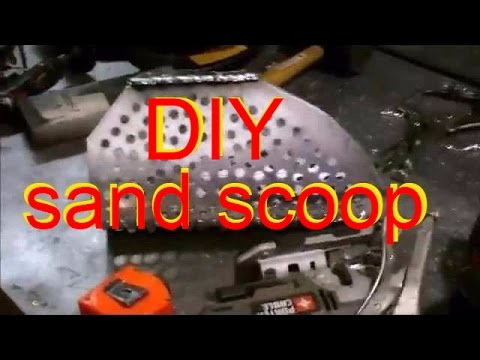 How to make metal detecting sand scoop. Homemade