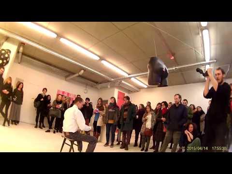 """""""Samplaikos KO2 ir gintarai"""", Sound Art, Performance by Simonas Nekrosius, 2015"""
