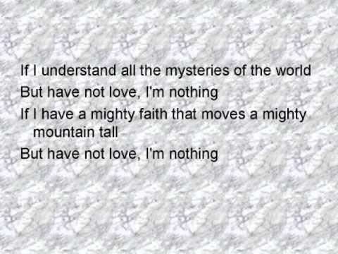 1 Corinthians 13 song
