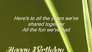 The Birthday Song by Corinne May with lyrics (ejg)