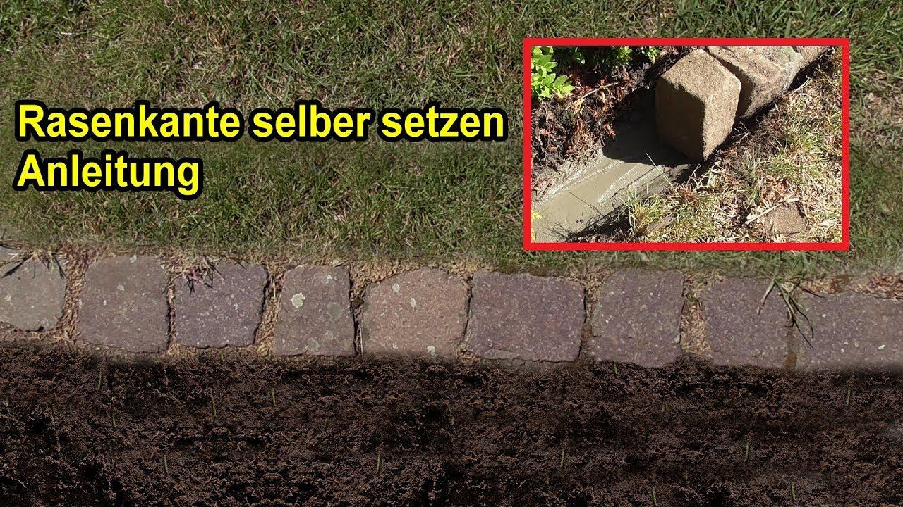 Häufig Rasenkante / Mähkante selber setzen – Anleitung / Rasenkanten OV62