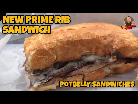 New Prime Rib Sandwich Food Review | Potbelly Sandwiches
