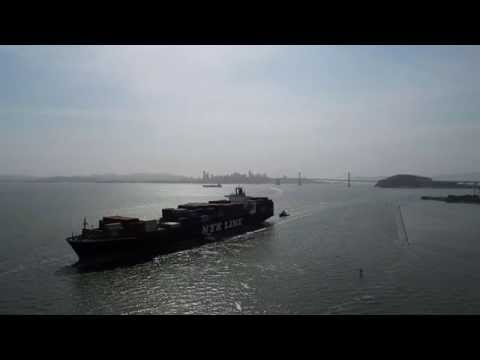 DJI Inspire-1 in Pursuit of the 'NYK ARGUS' at her Port of Oakland Arrival