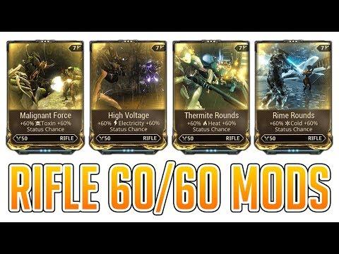 Warframe How To Get Dual Stat Elemental Rifle Mods [60% Elemental Damage/60% Status Chance]