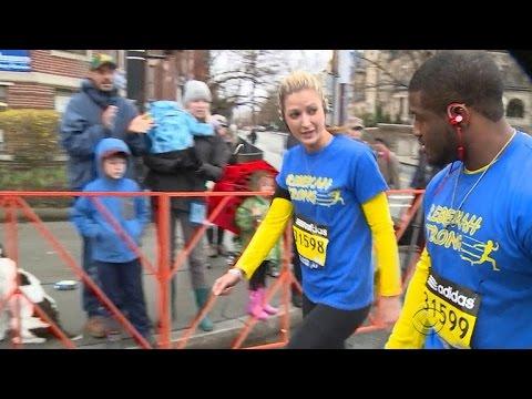 Boston Marathon bombing amputee makes improbable journey