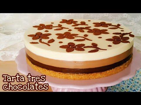 Tarta Tres Chocolates Postre Sin Horno Que Te Va A Encantar