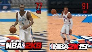 NBA 2K 10 Year Challenge: NBA 2K9 - NBA 2K19