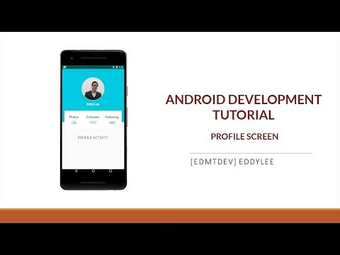 Android Development Tutorial - Design Profile Screen thumbnail