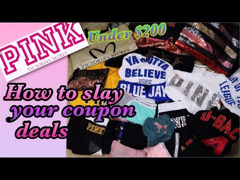 HOW TO COUPON ONLINE FOR  PINK ….HOW TO SLAY ON A BUDGET