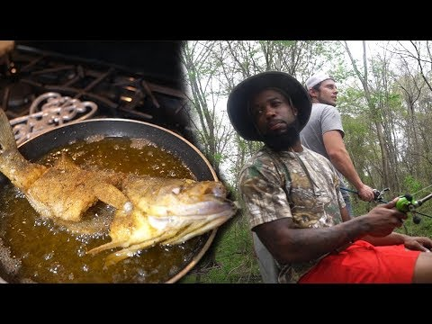 SWAMP BASS FISHING ON THE BAYOU! Cooking With Chef O Nasty Country Style