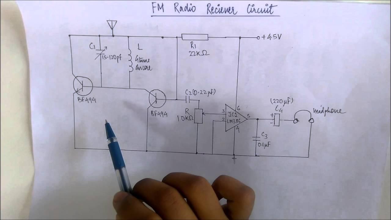 Fm Radio Receiver Circuit Ell100 Youtube